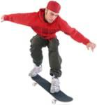 ride a skateboard