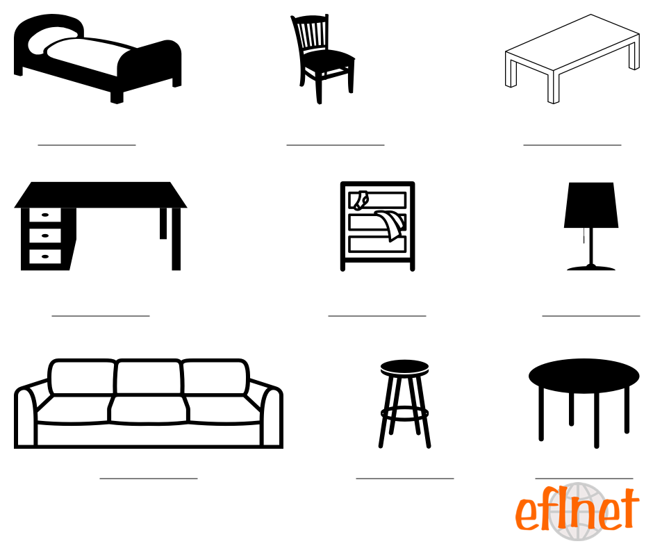 Furniture - Worksheets : EFLnet